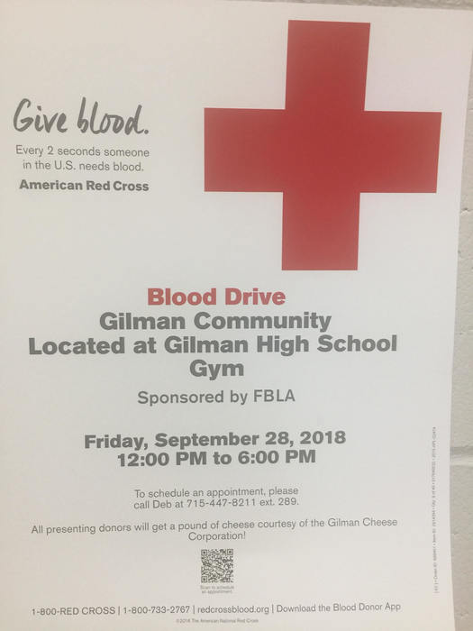 Gilman FBLA Blood Drive