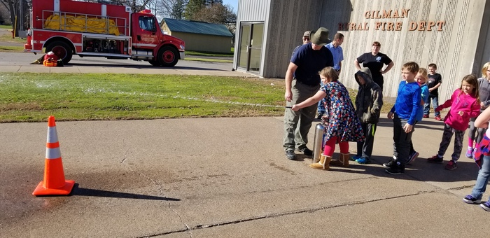 Learning about putting out a fire