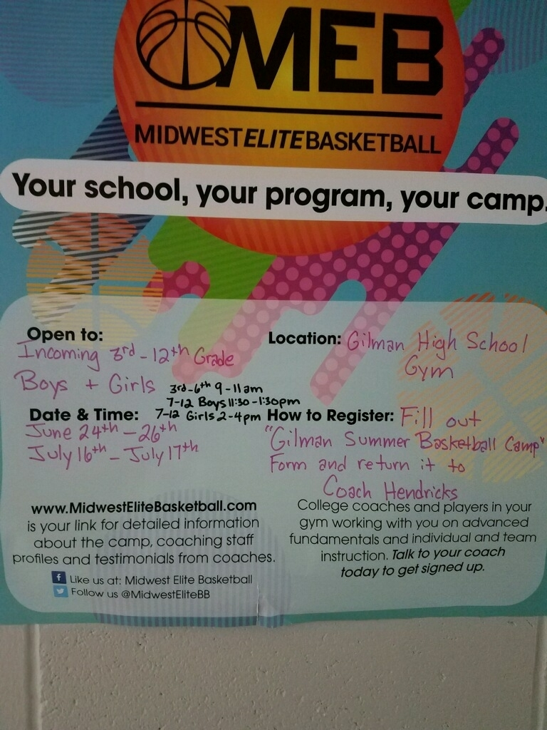 Second Half of Basketball Camp