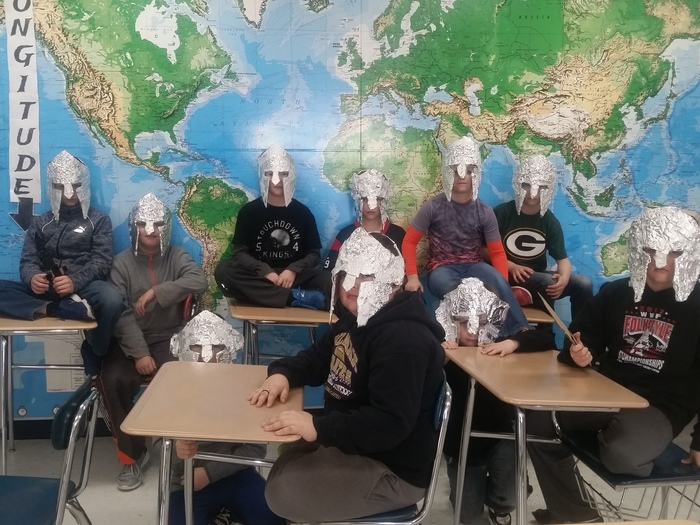 Power up - Spartan helmet construction project